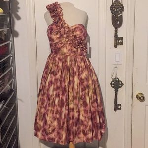 NWT Maggy London size 12 rose& gold cocktail dress